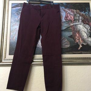 Slim City Fit Trousers sz 12 GAP